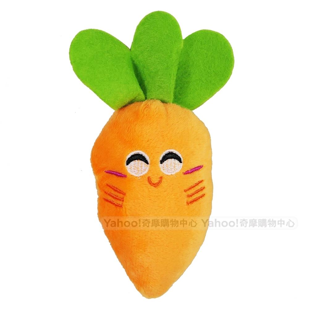 Kiwi 啾啾聲胡蘿蔔造型毛絨寵物玩具 (1入)
