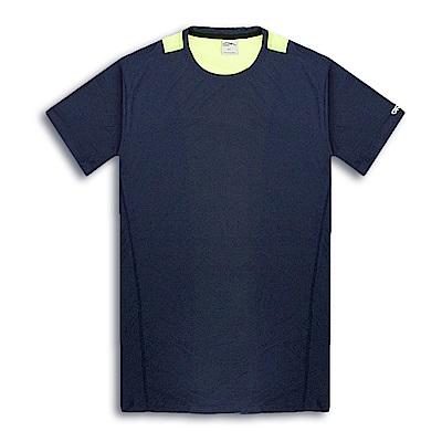 GFun 男款配色排汗圓領衫-深藍色(G6URSM3)