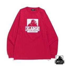 XLARGE L/S TEE OG長袖T恤-桃紅