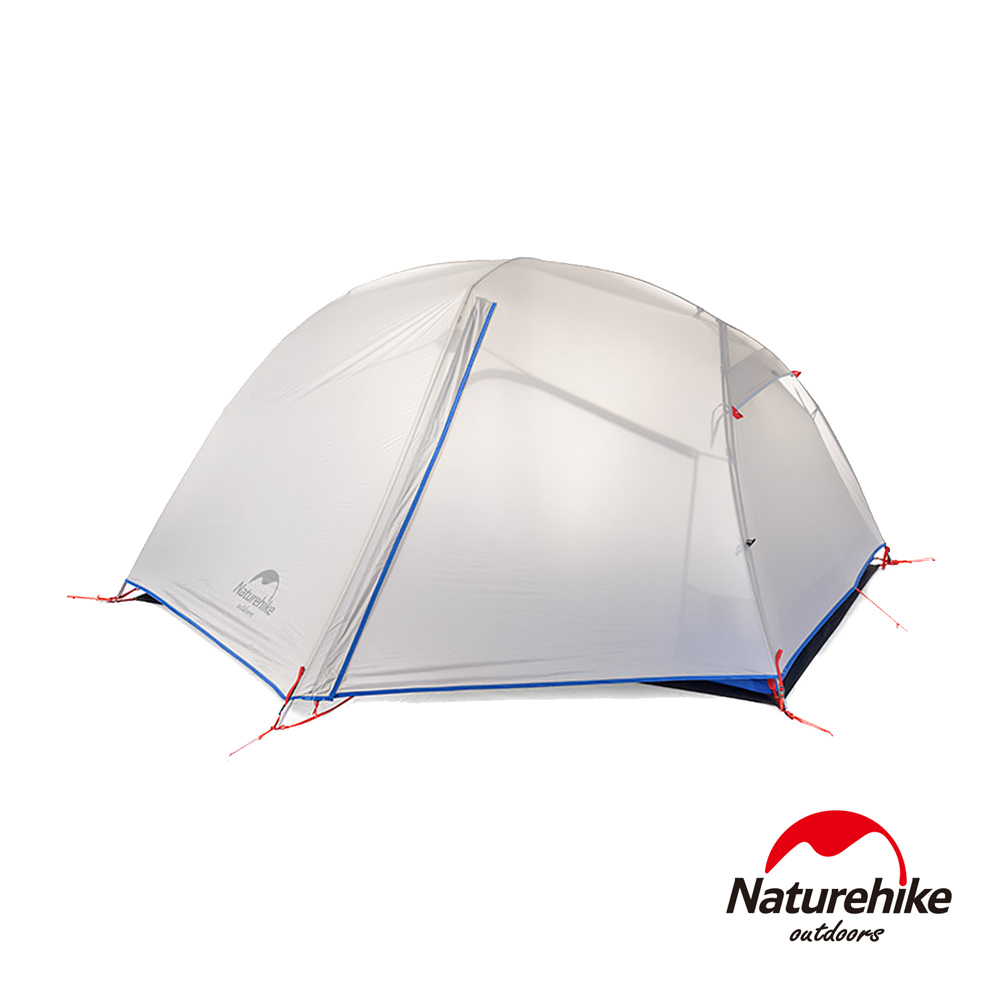 Naturehike帕羅2輕量雙層防雨20D矽膠雙人帳篷 贈地席 淺灰