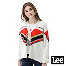Lee 民族風長袖針織外套/101+米白色-女款