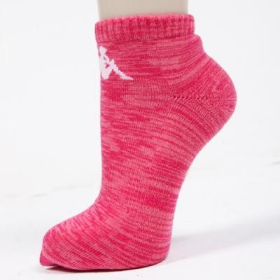 KAPPA 時尚女休閒運動踝襪(薄底) 莓紅麻花 3雙304TR50V24