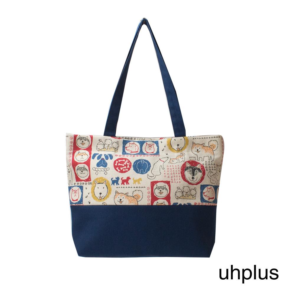 uhplus 輕托特- 小萌柴日記(米白)