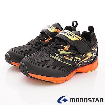 日本月星頂級競速童鞋 2E勝戰獸運動系列 EI676黑(中大童段)