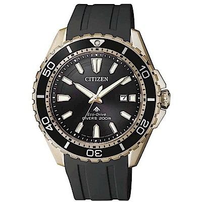 CITIZEN 星辰PROMASTER 潛水光動能腕錶黑x金BN0193-17E