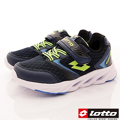 Lotto義大利運動鞋 中空風動跑鞋款 RSI706深藍(中大童段)