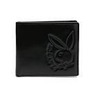 PLAYBOY- 基本短夾(附拉鍊零錢袋)   rabbithead系列-黑色