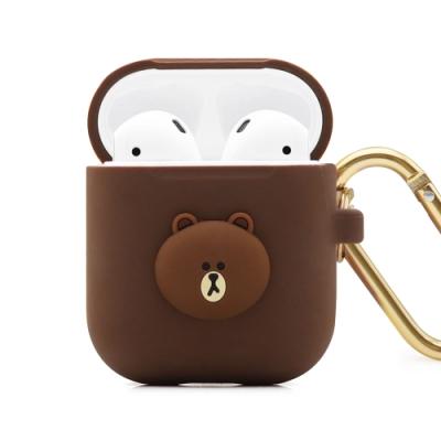 GARMMA LINE FRIENDS AirPods 1&2代耳機盒保護套 熊大