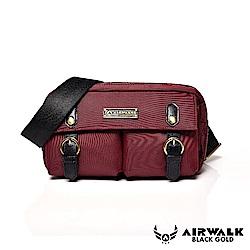 【AIRWALK】黑金系列 時光行者迷你側背包-紅