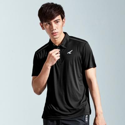 【AIRWALK】簡約設計吸排POLO衫-黑色