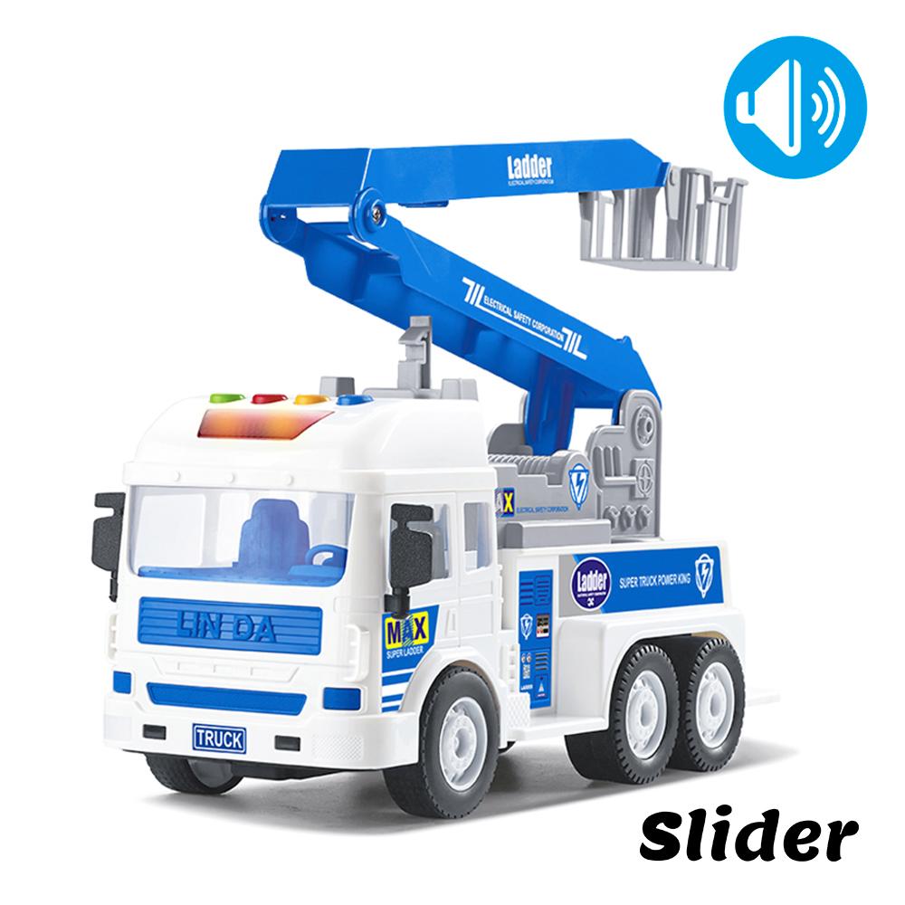 Slider聲光磨輪工程車 高空作業車