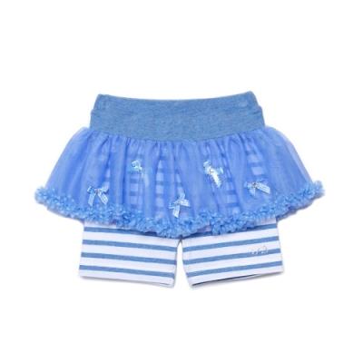 WHY AND 1/2 假兩件棉質萊卡短褲 5Y~10Y