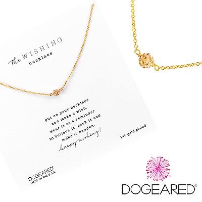 Dogeared love 珍愛系列 經典碎鑽圓球金色項鍊 附原廠盒
