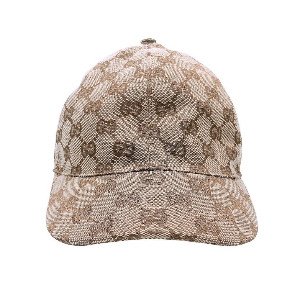 GUCCI GG帆布棒球帽(481774-烏木)