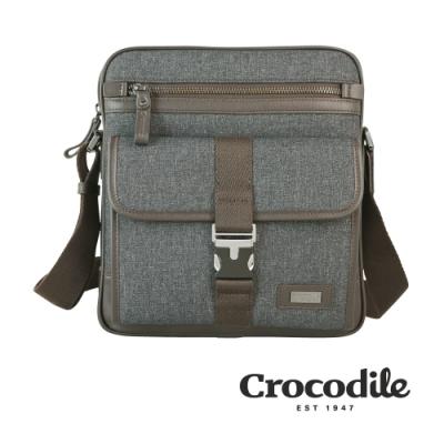 Crocodile 鱷魚皮件 Neat 2.0系列 布配皮 直式斜背包(S) 側背包 0104-08302-07