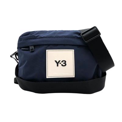 Y-3 經典品牌logo尼龍腰包/斜背包(深藍)