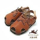 天使童鞋 可愛小班馬護趾涼鞋(小童)E136-棕