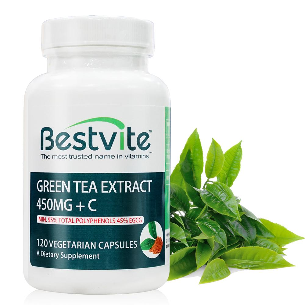 美國BestVite 必賜力綠茶萃取+維生素C膠囊1瓶 (120顆)