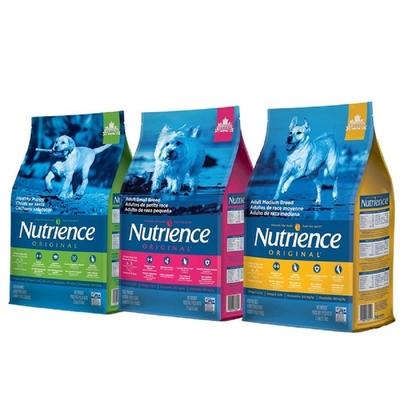【2入組】Nutrience紐崔斯ORIGINAL田園犬糧《雞肉+田園蔬果》2.5kg(5.5lbs)  送全家禮卷50元*1張 (購買第二件贈送寵鮮食零食1包)