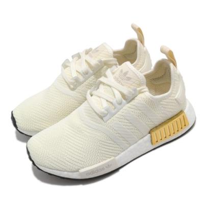 adidas 休閒鞋 NMD R1 襪套式 女鞋 海外限定 愛迪達 三葉草 Boost 緩震 白 黃 EE5174