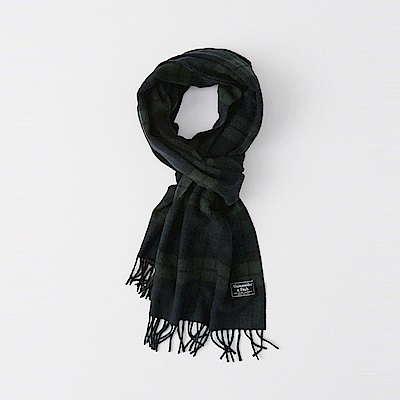 A&F 經典標誌舒適保暖圍巾-墨綠色 AF Abercrombie