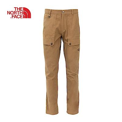 The North Face北面男款卡其色休閒長褲|3L6WT5C