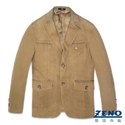 ZENO 簡約質感休閒西裝外套‧褐色