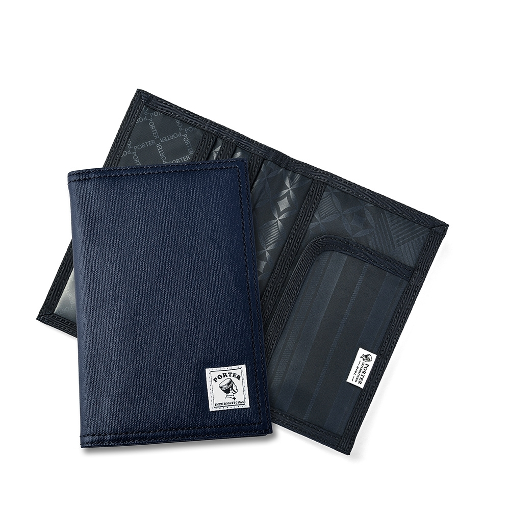 PORTER - 帆布護照套 - 深藍色