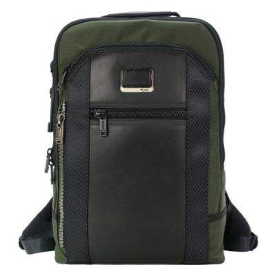 TUMI ALPHA BRAVO DAVIS簡約尼龍後背包(適用15吋筆電)-軍綠