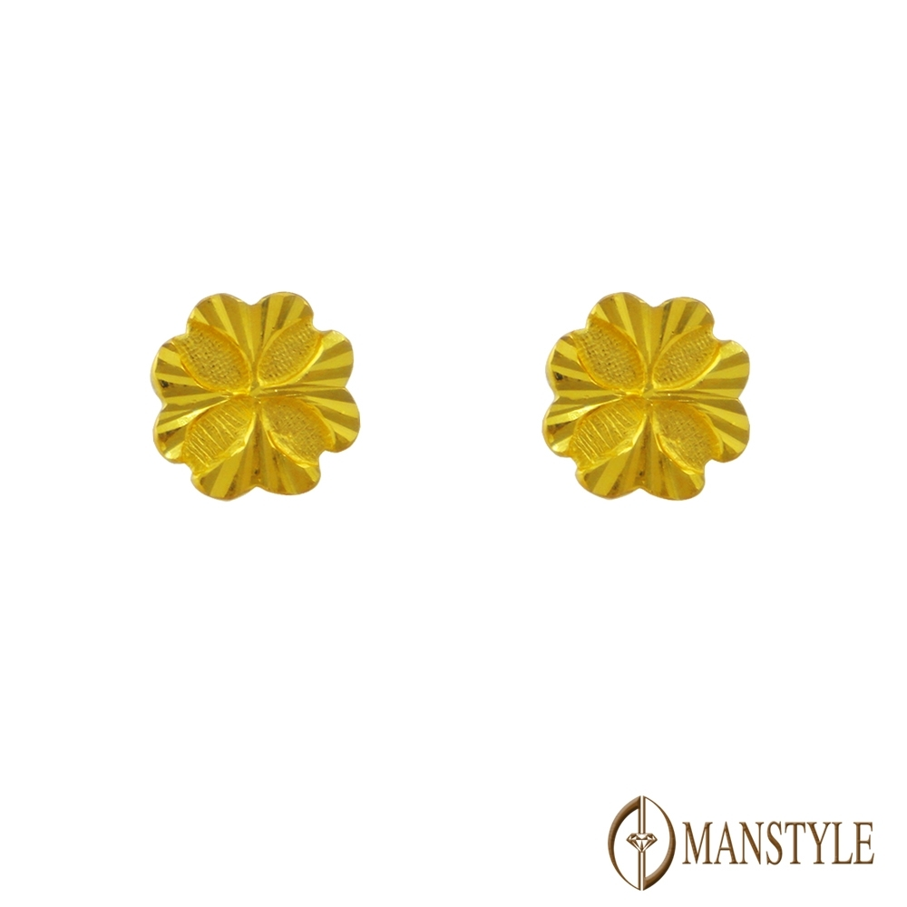 MANSTYLE 晶采 黃金耳環 (約0.71錢)