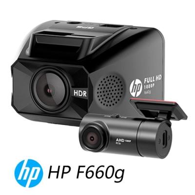 HP 惠普 F660G+RC3P GPS測速 雙鏡頭行車紀錄器-快