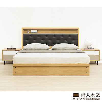 日本直人木業-COLMAR白色簡約5尺2抽標準雙人床組