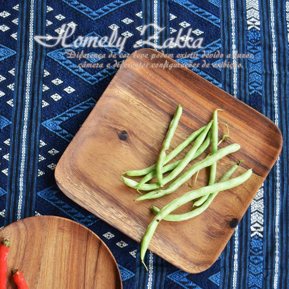Homely Zakka 木趣食光和風相思木25cm大方淺盤/拖盤/水果點心盤