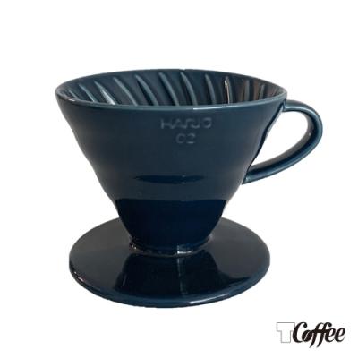 TCoffee HARIO-V60藏青藍02彩虹磁石濾杯