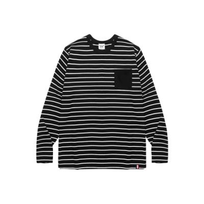 CACO-條紋撞色口袋上衣(二色)-男【UAR044】