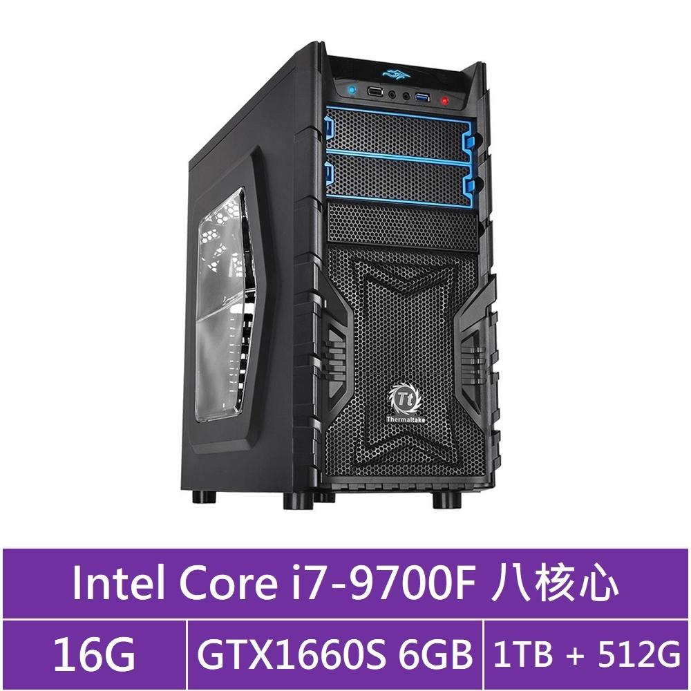 技嘉B365平台[火雲戰士]i7八核GTX1660S獨顯電玩機
