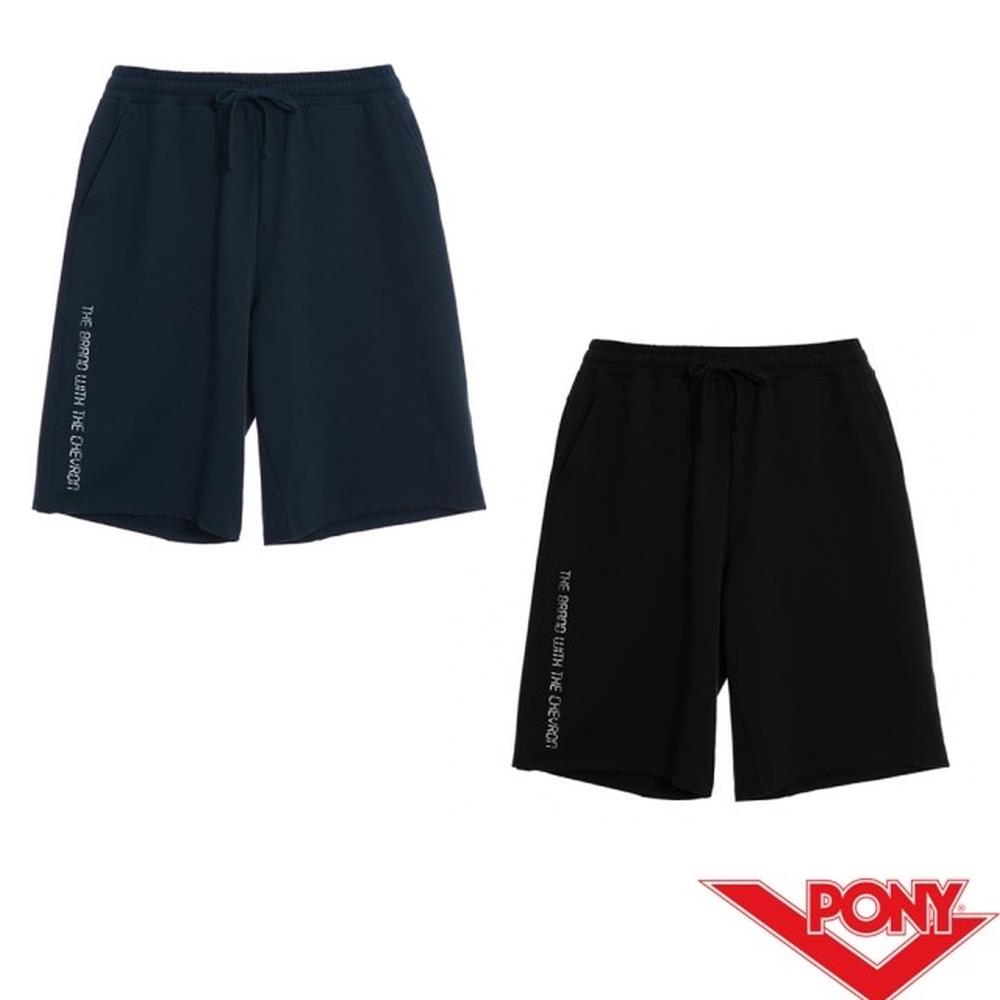 【PONY】針織透氣休閒短褲-男款 2色