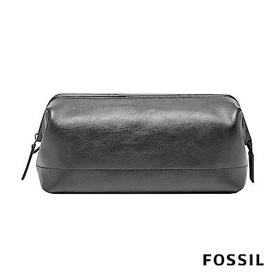 FOSSIL SHAVE KIT 真皮系列萬用包-黑色