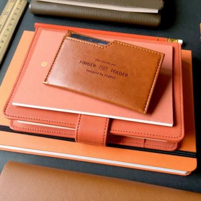 PLEPIC 極簡職人皮革票卡夾-焦糖棕