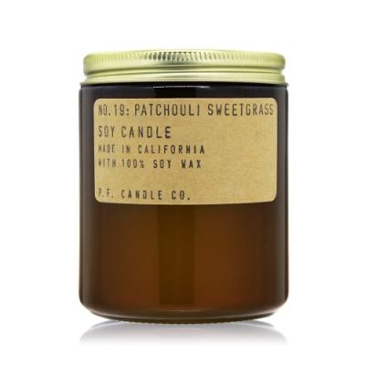 美國 P.F. Candle Co. 美國手工大豆蠟香氛蠟燭-廣藿香香草No.19 Patchouli Sweetgrass 7.2oz