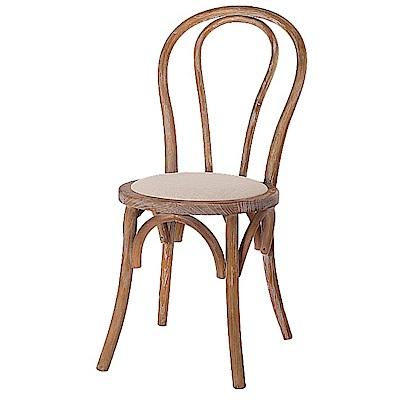AS-陶德仿古本色餐椅-41x50x82cm