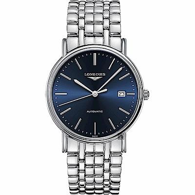 LONGINES浪琴 Presence 經典機械錶-藍x銀/38.5mm