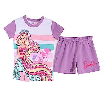 芭比純棉防蚊布短袖套裝 紫 k50343 魔法Baby
