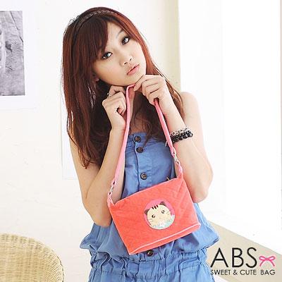 ABS貝斯貓 可愛餅乾貓咪拼布側背 肩背包(嫩粉)88-119