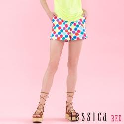 JESSICA RED - 繽紛奪目彩點短褲