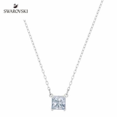 施華洛世奇 Attract 白金色方形寶石項鏈