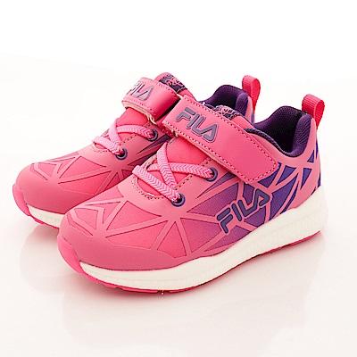 零碼-21cm FILA頂級童鞋 輕量夜光運動款 426R-299桃紫