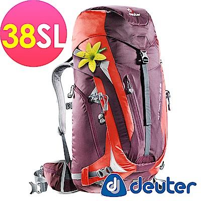 【ATUNAS 歐都納】德國DEUTER拔熱透氣背包38L-3441215紫紅/登山露營