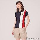 GIORDANO 女裝UNION JACK系列短袖POLO衫-65 海軍藍/白/紅