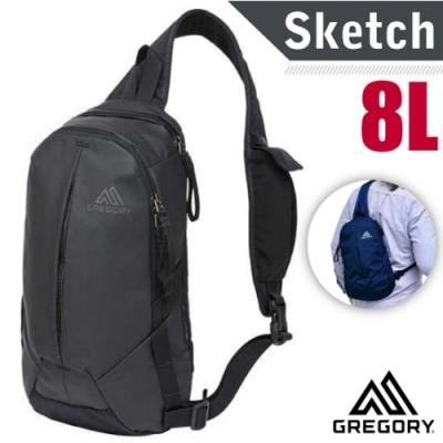GREGORY 限量 Sketch 8 UR 多功能日用單肩包8L.運動斜背包.側背隨身包.水餃包_霧面黑